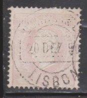 PORTUGAL Scott # 45e Used - King Luiz I - 1862-1884 : D.Luiz I