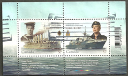 Sc. #2384 Canadian Navy Anniversary Souvenier Sheet Used 2010 D001 - 1952-.... Règne D'Elizabeth II