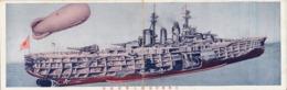 JAPAN JAPANESE WARSHIP AIRSHIP Big Postcard Cm 28,5x9 - Japan