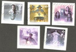 Sc # 2936-40 Haunted Canada Booklet Set Used 2016 K299 - 1952-.... Règne D'Elizabeth II
