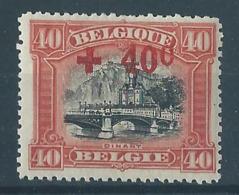Belgique Belgïe COB 158 MH* Cote 15 € -1 - 1918 Red Cross