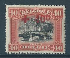 Belgique Belgïe COB 158 MH* Cote 15 € - 2 - 1918 Rotes Kreuz