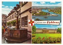 Koblenz - Schängelbrunnen, Deutsches Eck Und Kurfürstliches Schloss - Koblenz