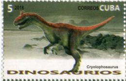 Lote CU2016-11, Cuba, 2016, Sello, Stamp, Dinosaurios, 6 V, Fauna, Dinosaur, Dino - Cuba