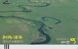Télécarte Ancienne Japon / NTT 430-046 - Vue Aérienne - JAPAN Front Bar Phonecard / TBE - Balken Telefonkarte - Japon