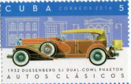 Lote CU2016-12, Cuba, 2016, Sello, Stamp, Autos Clasicos, 6 V, Classic Car, Bugatti, Lincoln - Cuba