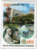Lote CU2016-13, Cuba, 2016, Sello, Stamp, Aniv 30 Centro De Ingenieria Genetica Y Biotecnologia, Genetic Biotechnology - Cuba