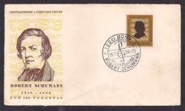 Deustche Bundespost - 1956 - FDC - Robert Schumann - Persönlichkeiten
