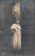 CUTE YOUNG GIRL~HERZLICHEN GLUCKWUNSCH ZUM GEBURTSTAGE-1925 PHOTO POSTCARD 41703 - Other