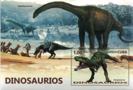 Lote CU2016-11H, Cuba, 2016, HF, SS, Dinosaurios, Fauna, Dinosaur, Dino, Argentinosaurus - Cuba