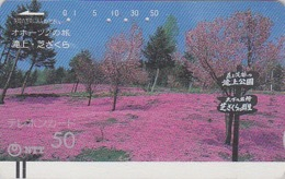 Télécarte Ancienne Japon / NTT 430-054 - FORET & BRUYERE - JAPAN Front Bar Phonecard / TBE - Balken Telefonkarte - Japon