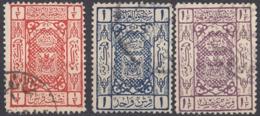 ARABIA SAUDITA, Regno Di Hedjaz - 1922/1924 - Lotto Composto Da 3 Valori Usati: Yvert 29/31. - Arabia Saudita