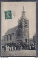 Carte Postale 59. Inchy  L'église  Trés Beau Plan - France