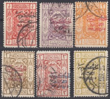 ARABIA SAUDITA, Regno Di Hedjaz - 1924 - Lotto Composto Da 6 Valori Usati: Yvert 47 E 49/53. - Arabie Saoudite