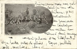 Indochina, Cambodia, Group Of Khas Warriors, Spears And Shield (1903) Postcard - Cambodge