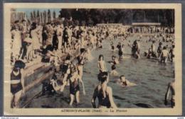 Carte Postale 59. Aubigny-au-Bac-plage  La Piscine Et Le Restaurant Dancing De L'Hermitage Trés Beau Plan - France
