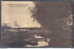 Carte Postale 59. Aubigny-au-Bac-plage  Le Petit Pont    Trés Beau Plan - Autres Communes