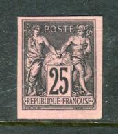 Rare N° 97c Non Dentelé Neuf (*) - Emission Granet - Signé Calves - 1876-1898 Sage (Type II)