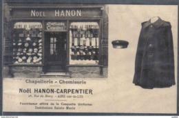 Carte Postale 62. Aire Sur La Lys  Chapellerie Chemiserie  Noël Hanon-Carpentier   Trés Beau Plan - Aire Sur La Lys