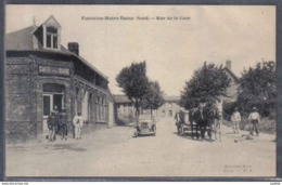 Carte Postale 59. Fontaine-Notre-Dame  Rue De La Gare   Trés Beau Plan - France