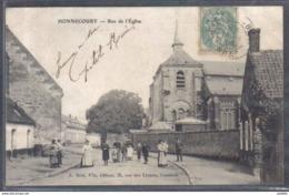 Carte Postale 59. Honnecourt Rue De L'église   Trés Beau Plan - France
