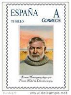 Spain 2015 - Nobel Prize 1954 - Literature - Ernest Hemingway Tu Sello  Mnh - Premio Nobel