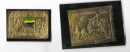 Deux Timbres Or République Gabonnaise - Gabon (1960-...)