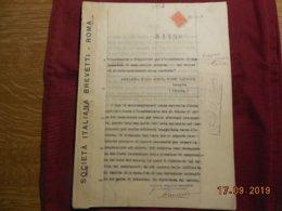 Document Italien De 1932 - Brevet Technique D'un Moto-compresseur (origine Polonaise Peut-être...) - Machines