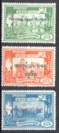 Burma Sc# 173-175 MH 1963 Overprints - Myanmar (Burma 1948-...)