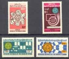 Burma Sc# 257-260 MNH 1976 International Literacy Year - Myanmar (Burma 1948-...)