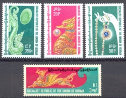 Burma Sc# 268-271 MNH 1978 Precious Jewelry - Myanmar (Burma 1948-...)
