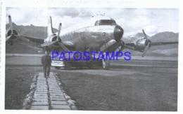 119853 ARGENTINA USHUAIA TIERRA DEL FUEGO AVIATION AVION YEAR 1964 BREAK PHOTO NO POSTAL POSTCARD - Argentine