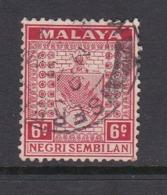 Malaysia Negri Sembilan SG 27 1937 Arms,6c Scarlet,used - Negri Sembilan