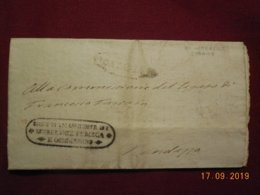 Lettre De 1848 De Catania - ...-1850 Préphilatélie
