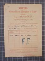 Cx 9) Vieux Papiers Transport Portugal Companhia Navigation A Vapeur THETIS 1879 Vapor MARIA PIA  Henry Burnay /rasgado - Portugal