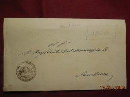 Lettre De 1860 De Siacca Pour Sambuca - Italie