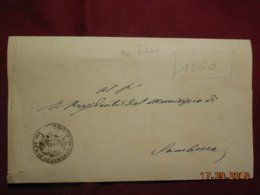 Lettre De 1860 De Siacca Pour Sambuca - Italia