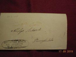 Lettre De 1858 De Aci Reale - 1861-78 Vittorio Emanuele II