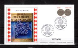 """"""" ANCIEN FRANC RAINIER III """" Sur Enveloppe 1er Jour De 2008. Parfait état FDC - Münzen"""