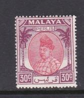 Malaysia-Perlis SG 21 1955 Raja Putra,30c Scarlet And Purple,mint Hinged - Perlis