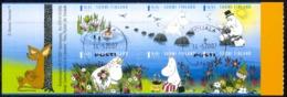 Finland Sc# 1290 Used Booklet Pane 2007 Moomins - Gebruikt