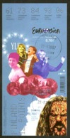 Finland Sc# 1291 Used Souvenir Sheet 2007 Eurovision - Finlande