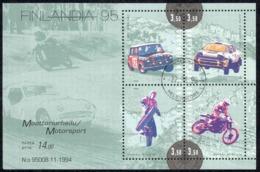 Finland Sc# 961 Used Souvenir Sheet 1995 Motor Sports - Finlande