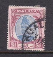 Malaysia-Selangor SG 108 1949 Sultan Shah,$ 1.00 Blue And Purple,used - Selangor