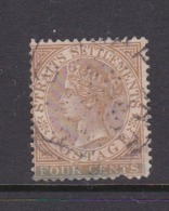 Malaysia-Straits Settlements SG 64 1883 Queen Victoria 4c Brown,used - Straits Settlements