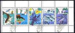 Finland Sc# 863 FD Cancel Booklet Pane 1991 Birds - Used Stamps