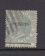 Malaysia-Straits Settlements SG 86 1891 Queen Victoria 10c O 24c Yellow Green,used - Straits Settlements