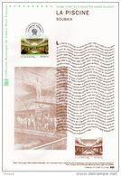 """"""" LA PISCINE / ROUBAIX """" Sur Document Philatélique Officiel 1°Jour De 2010. N° YT 4453. DPO - Documenten Van De Post"""