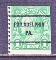 U.S. 597   Perf. 10    PA.  STATE    1923  Issue - Precancels