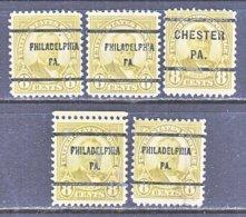 U.S. 640   Perf. 11 X 10 1/2   (o)   PA.  STATE    1927  Issue - Precancels